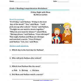 Complex 1St Grade Reading Comprehension Reading Worksheets | First Grade Reading Worksh