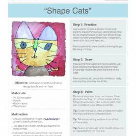 Complex Art Lesson Plans On Shape Shape Cats: Free Lesson Plan Download - The Art Of Ed | Shape