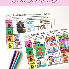 Complex Articulation Lesson Plans Speech Therapy Lesson Plans For September! Looking For Ideas Fo