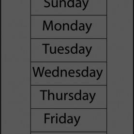 Complex Days Of The Week Lesson Plan For Preschool Classroom Calendar Ideas With Days Of The Week Printable