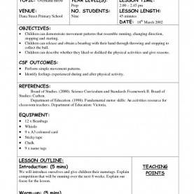 Complex Education Lesson Plans Physical Education Lesson Plan Template Recent Business Idea