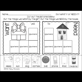 Complex First Grade Lesson Plans On Needs And Wants Grab This Freebie Today For Wants And Needs | Kinderlan