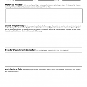Complex Free Lesson Plan Templates For 4Th Grade Civics Lesson Plan Templates Florida Standards | Preschool Blan