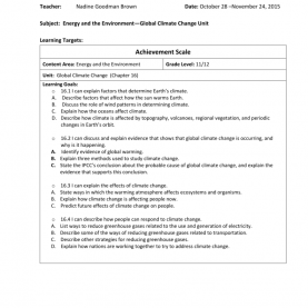 Complex High School Lesson Plan Climate Change Climate Change Lesson