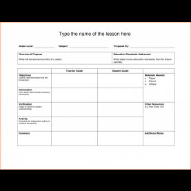 Complex Lesson Plan Proforma Primary Template: Lesson Plan Temp