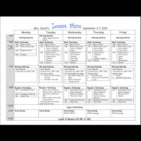 Complex Lesson Plan Template Doc Common Core Weekly Lesson Plan Template | Sanjonm