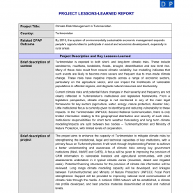 Complex Project Lessons Learned Report Lessons-Learned Report Temp