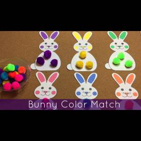 Complex Toddler Preschool Activities Bunny Color Match Preschool And Toddler Learning Activity - You