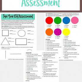 Complex Two Year Old Preschool Curriculum Two Year Old Assessment | Gauges, Third And Activi