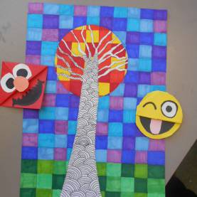 Excellent Art Activities For Primary School Bricks & Wood- School Art Activities: Corner Bookmarks An