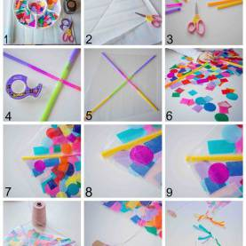 Excellent How To Make A Kite Lesson Plan Contact Paper Confetti Kite | Parents