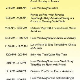 Excellent Infant Curriculum Ideas Infant Day Care Schedule | Infants | Pinterest | Infant, Infan