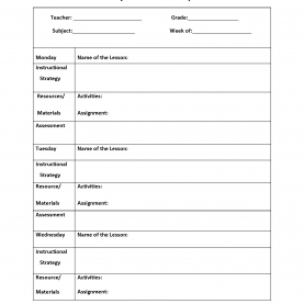 Excellent Lesson Plan Template Pdf Weekly Englishlinx.Com | Lesson Plan Temp
