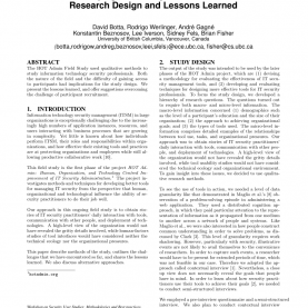 Excellent Lessons Learned Workshop Techniques Studying It Security Professionals: Research Design And Lesson