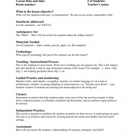 Excellent Madeline Hunter Lesson Plan Template Printable Madeline Hunter Lesson Plan Template | 2014Freerun5