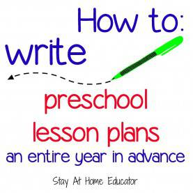 Excellent Pre-K Lesson Plans With Objectives Preschool Lesson Planning A Year In Advance | School, Homeschoo