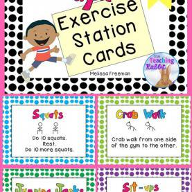 Excellent Preschool Exercise Lesson Plans Physical Activity Cards - Exercise Cards | Brain Breaks, Brain An