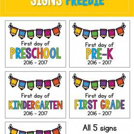 Fresh 1St Day Preschool Lesson Plans Best 25+ School Signs Ideas On Pinterest | First Day School Sig