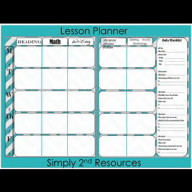 Fresh 8 Subject Lesson Plan Template Simply 2Nd Resources: Free Lesson Plan Template | Classroo