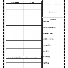 Fresh Free Lesson Plan Template First Grade Class Lesson Plan Template - Commonpenc
