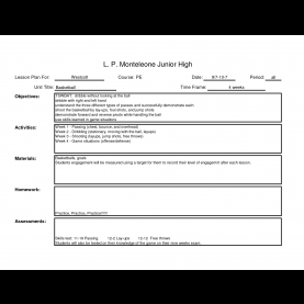 Fresh Free Weekly Lesson Plan Template Middle School Unit Planning Templates For Teachers - Commonpenc