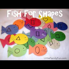 Fresh Lesson Plan For Preschool On Shapes 15 Activities For Learning Shapes | Fish Activities, Fish And Sh