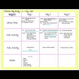 Fresh Lesson Plans For Toddlers For September My Body Lesson Plan : All About Me Crafts And Learning Activitie