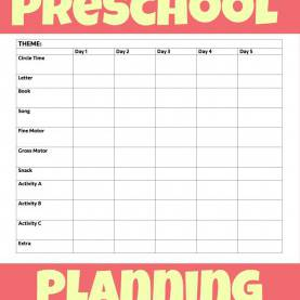 Fresh Preschool Curriculum Free Lesson Plan Printable Preschool Week Planning Sheet | Preschool | Pinteres
