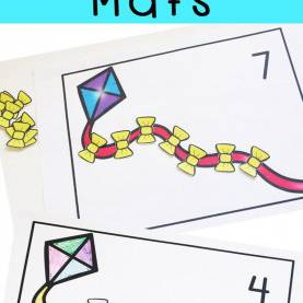 Fresh Preschool Math Lesson Plans Counting Kite Preschool Counting Mats | Kids Numbers, Preschool Lessons An