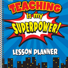 Fresh Teachers Daily Plan And Record Book Teaching Is My Superpower Lesson Planner | Substitute Teache
