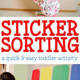 Good Activities For Two Year Old Child Sticker Sorting Activity | Activities, Easy And Indoor Toddle