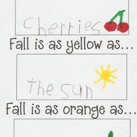 Good Autumn Writing Ideas Fun Way To Explore Similes... Use In Spring (Spring Is As Green A