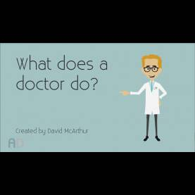 Good Community Helpers Doctor Few Lines What Does A Doctor Do? Pre-School Educational Video - You