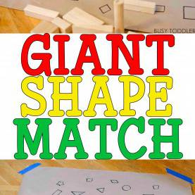 Good Creative Math Lesson Plans For Preschoolers Giant Shape Match Activity | Preschool Activities, Math Activitie