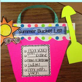 Good End Of The Year Lesson Plans Fun Craft Activity For The End Of The Year. Create A Summer Bucke