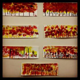 Good Kindergarten Fall Art Projects Kindergarten Art Project- Fall Tree Line. Www.Bloomshoppe.Co