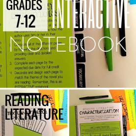 Good Lesson Plan For Grade 7 English Literature Reading Literature Interactive Notebook: Grades 6-9 | Literatur