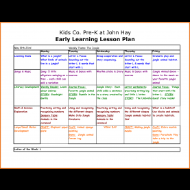 Good Lesson Plan For Preschool In Math Preschool Weekly Lesson Plan | Art Resume Sk