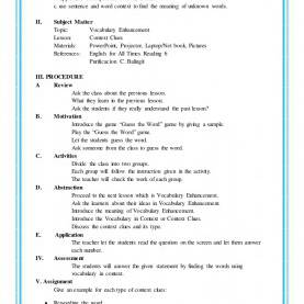 Good Lesson Plan Format Of English 4As Lesson Plan In English 6 Detailed Lesson Plan Sample I