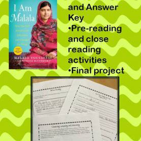 Good Lesson Plan Novel Study I Am Malala (Young Reader'S Edition) - Nonfiction Study Guid