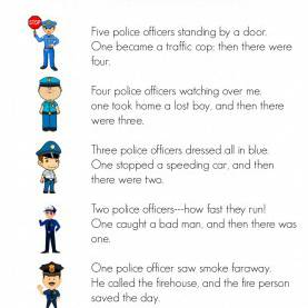 Good Police Officer Activities For Kindergarten Preschool Helpers: Police Men - Simple. Home. Bless