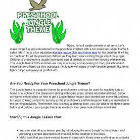 Good Pre K Jungle Lesson Plans Jungle_Theme_Lesson_Plans_For_Preschool_Kids.Pdf - Docd