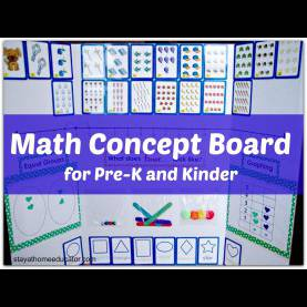 Good Pre K Math Lessons Math Concpet Board For Preschool And Kinderga