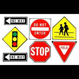 Good Preschool Lesson Plans Traffic Signs Traffic Symbols 2-Sided Classroom Decor | Eureka Sc