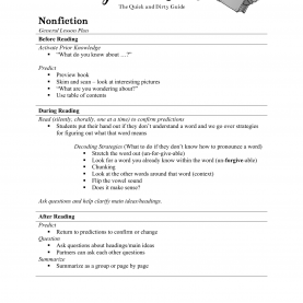 Good Reading Lesson Plan Beginners Quick And Dirty Guided Reading Lesson Plan - Ninja P