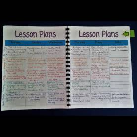 Good Teacher Lesson Plan Book With Calendar Printable Teacher Planner | Schola