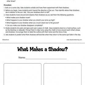 Great 2Nd Grade Lesson Plans For Science What Makes A Shadow? Lesson Plan From Lakeshore Learning | * Pete