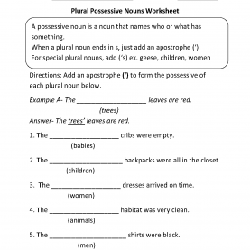 Great 2Nd Grade Lesson Plans On Nouns Plural Possessive Nouns Worksheets €? | Pintere