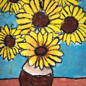 Great Art Lesson Plans Van Gogh Sunflowers Spot Of Color: 4Th Grade Van Gogh Sunflowers | Artists-Vangog