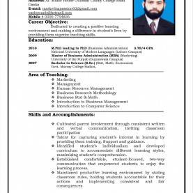 Great Curriculum Template For Teachers Resume Curriculum Vitae Sample For Teachers Templates For Teacher